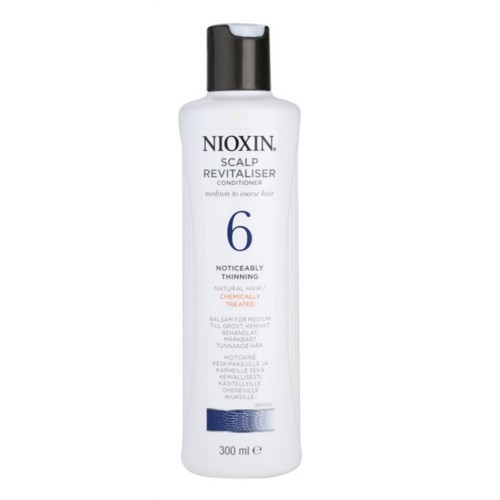 Nioxin Revitalizer pokožky pre rednúce normálnu až silné prírodné aj chemicky ošetrené vlasy System 6 (Scalp Revitaliser Noticeably Thinning Natura l Hair Chemicaly Treated) 300 ml