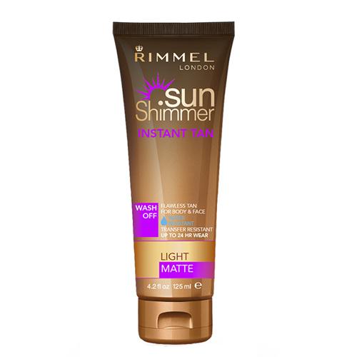 Rimmel Voděodolný samoopalovací krém SunShimmer (Instant Tan Water Resistant Matte) 125 ml 001 Light