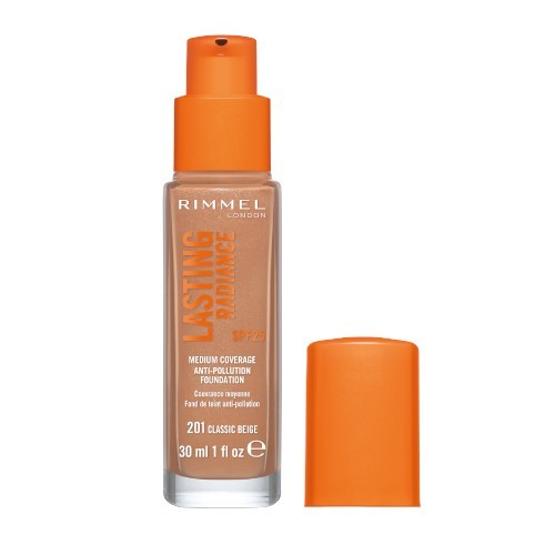 Rimmel Rozjasňujúci make-up Lasting Radiance SPF 25 (Anti-Pollution Foundation) 30 ml 010 Light Porcelain