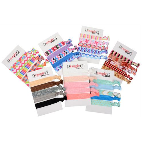 Dtangler Sada různobarevných gumiček do vlasů 5 ks Summer