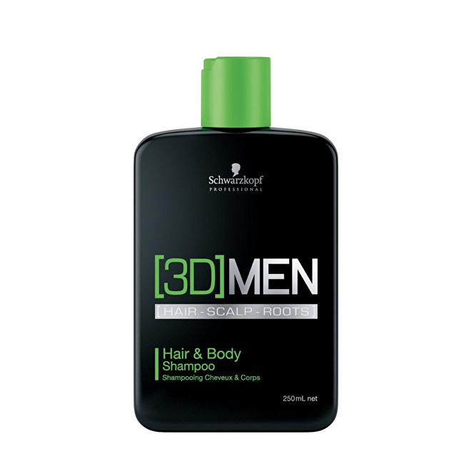Schwarzkopf Professional Șampon și gel de duș pentru bărbați 3D (Hair & Body Shampoo) 1000 ml