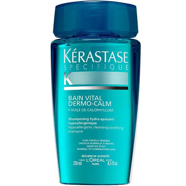 Kérastase Šampon pro citlivou vlasovou pokožku pro normální až smíšené vlasy Bain Vital Dermo-Calm (Hypoallergenic Hydra-Soothing Shampoo) 250 ml