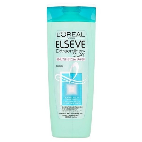 Loreal Paris Šampón pre rýchlo sa mastiace vlasy s lupinami Elseve (Extraordinary Clay) 250 ml