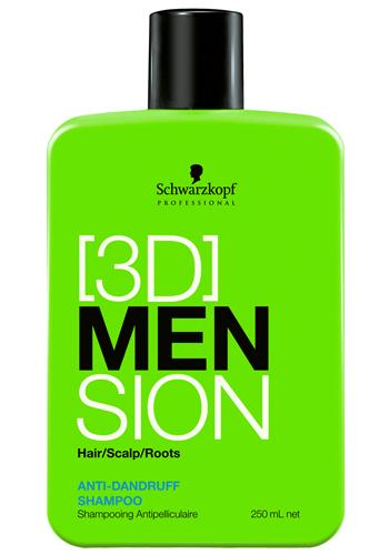 Fotografie Schwarzkopf Professional Šampon proti lupům pro muže 3D 250 ml