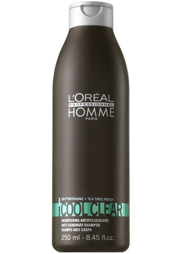 Loreal Professionnel Șampon contra mătreții, pentru bărbați Cool Clear (Anti-Dandruff Shampoo) 250 ml