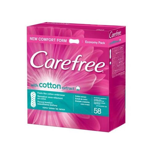 Carefree Slipové vložky s výtažkem z bavlny Cotton 76 ks