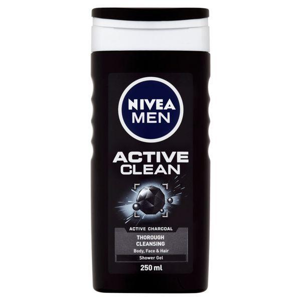 Nivea Gel de duș pentru bărbați  Active Clean 250 ml 500 ml