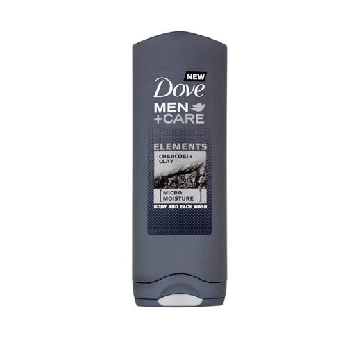 Dove Gel de duș pentru bărbați și Care Charcoal și argilei ( Body And Face Wash) 400 ml