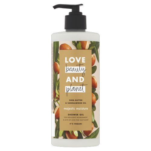 Love Beauty and Planet Sprchový gél s bambuckým maslom a santalovým drevom (Majestic Moisture Shower Gel) 500 ml