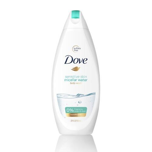 Dove Sprchový micelární gel pro citlivou pokožku Sensitive (Micellar Water Shower Gel) 500 ml