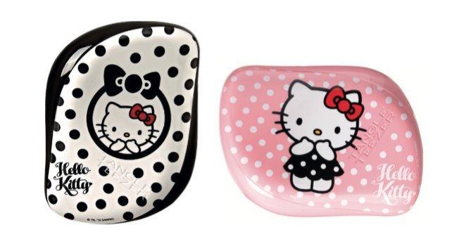 Tangle Teezer Profesionální kartáč na vlasy Tangle Teezer Hello Kitty (Compact Styler) černo-bílý