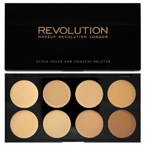 Revolution Ultra krycie paletka ( Ultra Cover and Conceal) Light