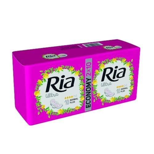 Ria Ultratenké hygienické vložky pre normálnu a silnejšiu menštruáciu Ultra Silk Normal Plus 10 ks