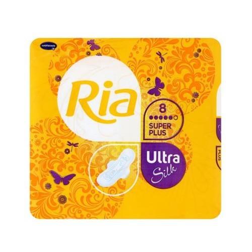 Ria Ultratenké hygienické vložky s extra savým jádrem Ultra Silk Super Plus 16 ks Duopack