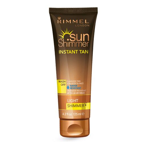Rimmel Třpytivý voděodolný samoopalovací krém SunShimmer (Instant Tan Water Resistant Shimmer) 125 ml 002 Medium