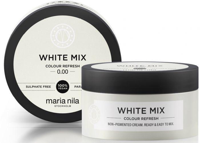 Maria Nila Vyživující maska bez barevných pigmentů k dotvoření pastelových odstínů White (Colour Refresh Mask) 100 ml