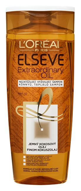 Loreal Paris Vyživující šampon s kokosovým olejem na normální až suché, nepoddajné vlasy Elseve Extraordinary Oil 250 ml