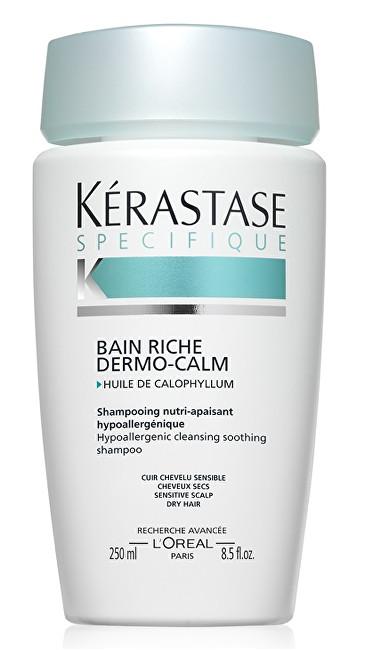 Kérastase Zklidňující šampon pro citlivou vlasovou pokožku a suché vlasy Bain Riche Dermo-Calm (Hypoallergenic Cleansing Soothing Shampoo Sensitive Scalp Dry Hair) 250 ml