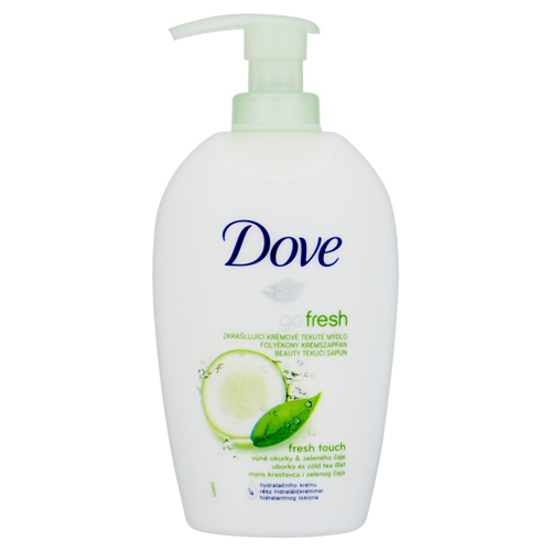 Dove Zkrášlující krémové tekuté mýdlo s vůní okurky a zeleného čaje Go Fresh (Fresh Touch) 250 ml