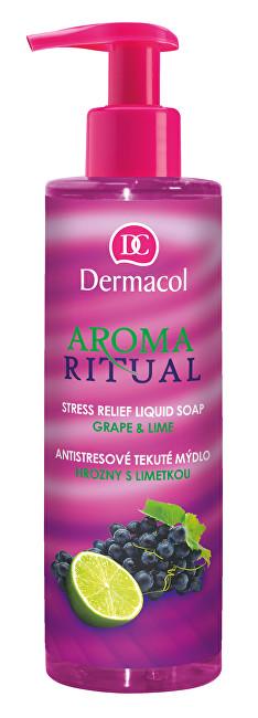 Dermacol Antistresové tekuté mýdlo hrozny s limetkou Aroma Ritual (Stress Relief Liquid Soap) 250 ml