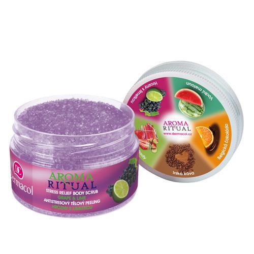 Dermacol Antistresový tělový peeling hrozny s limetkou Aroma Ritual 200 g