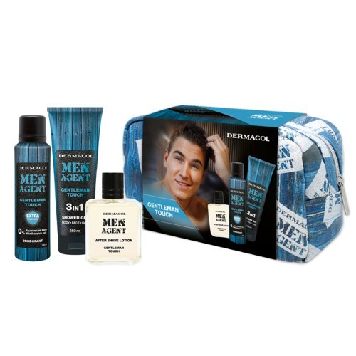 Dermacol Men Agent Gentleman Touch 3v1 pre mužov sprchový gel 250 ml + deodorant 150 ml + voda po holení 100 ml + kozmetická taška darčeková sada