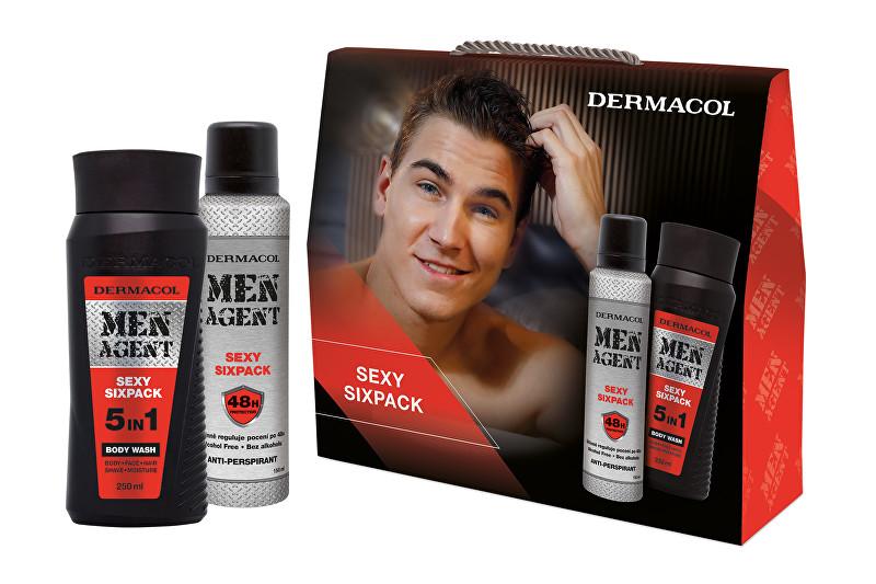 Dermacol Men Agent Sexy Sixpack pro muže sprchový gel 5v1 250 ml + antiperspirant 150 ml dárková sada