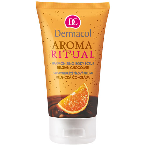 Dermacol Harmonizující tělový peeling Belgická Čokoláda s Pomerančem 150 ml