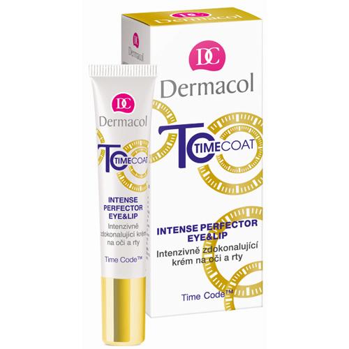 Fotografie Dermacol Time Coat intenzivně zdokonalující krém na oči a rty 15 ml