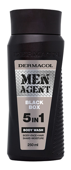 Dermacol Gel de duș 5in1 pentru bărbați Black Box Men Agent (Body Wash) 250 ml