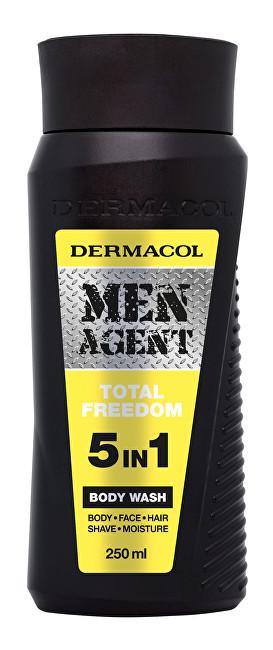 Dermacol Gel de duș 5in1Total Freedom Men Agent (Body Wash) 250 ml pentru bărbați