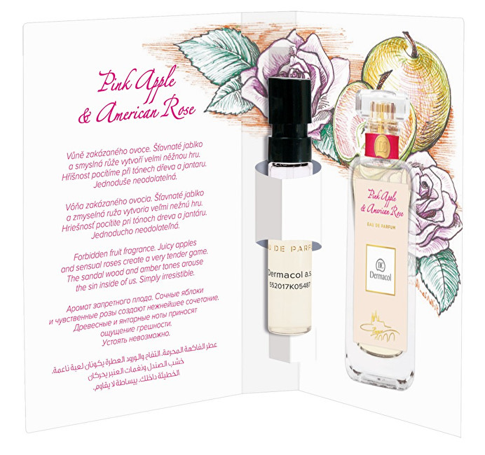 Dermacol Pink Apple and American Rose parfumovaná voda dámska 2 ml vzorka