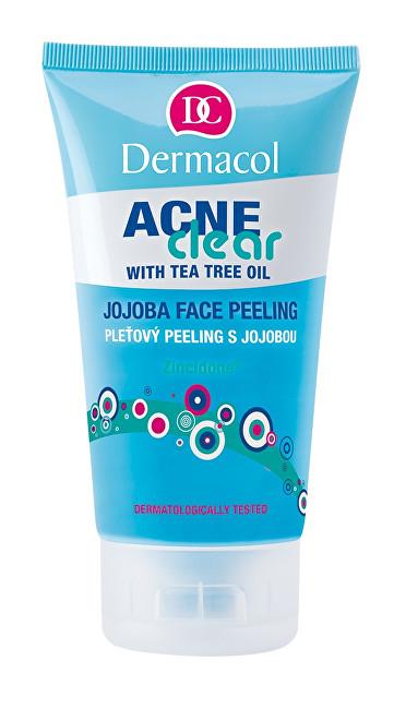 Dermacol Pleť ový peeling s jojobou Acneclear (Face Peeling) 150 ml