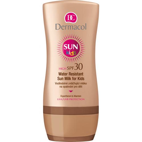 Dermacol Vodeodolné zvláčňujúce mlieko na opaľovanie pre deti SPF 30 Sun Kids (Water Resistant Sun Milk for Kids) 200 ml
