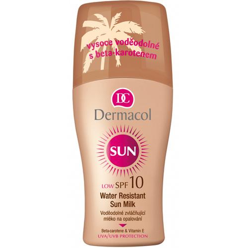 Dermacol Voděodolné zvláčňující mléko na opalování ve spreji SPF 10 Sun (Water Resistant Sun Milk) 200 ml