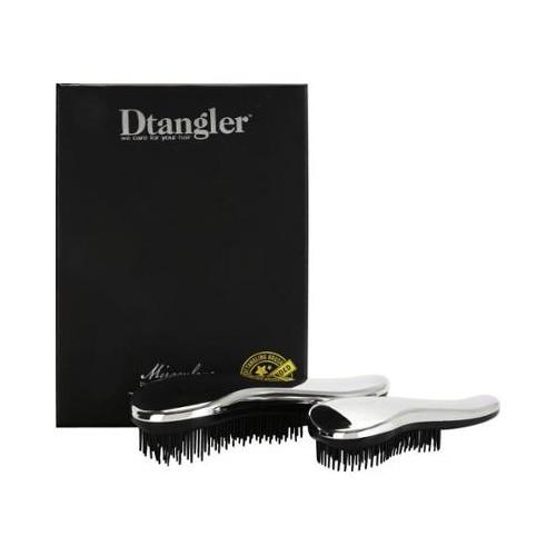 Detangler Miraculous Set Silver kartáč na rozčesávání vlasů s rukojetí stříbrný dárková sada