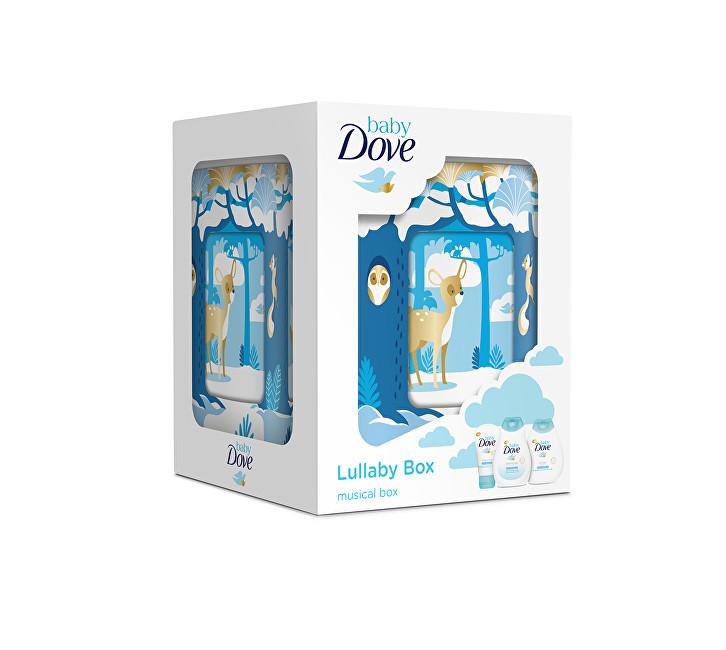 Dove baby Lullaby box hrací skříňka pro děti + krém 45 g + tělové mléko 200 ml + šampon 200 ml dárková sada