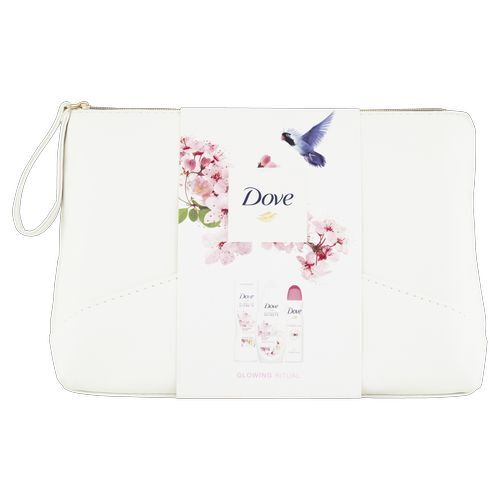 Dove Darčeková sada lotosový kvet Glowing Ritual (Shower Gel  Body Lotion Antiperspirant Cosmetic Bag)