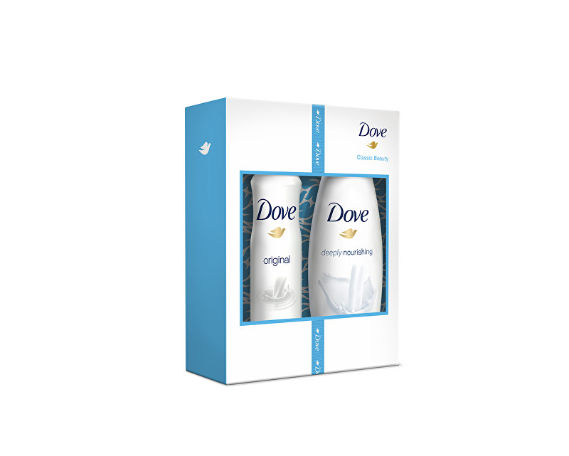 Dove Original Deeply Nourishing sprchový gel 250 ml + original deospray 150 ml dárková sada