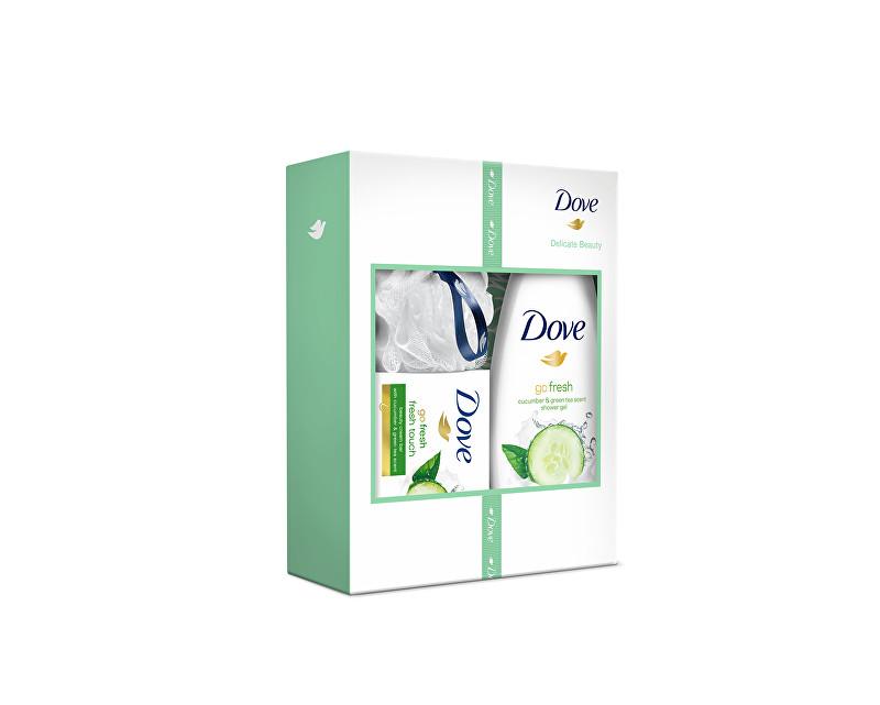 Dove Dárková sada s mycí houbou Delicate Beauty - SLEVA - pomačkaná krabička