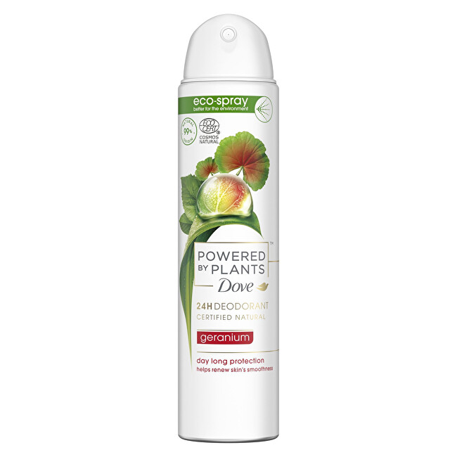 Dove Deodorant ve spreji Pelargonie Powered by Plants Geranium (24H Deodorant) 75 ml