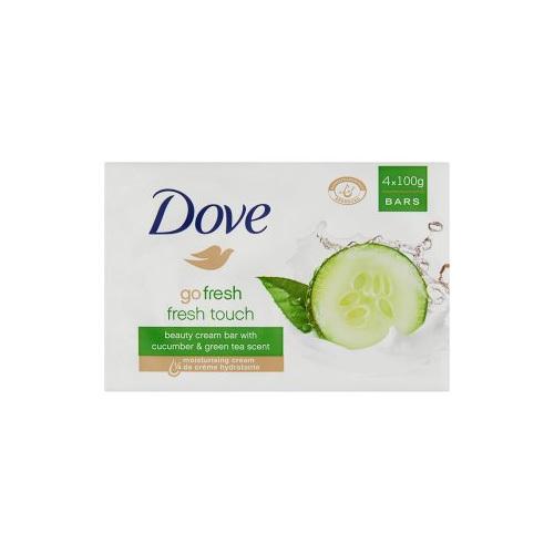 Dove Krémová tableta Go Fresh Fresh Touch s vůní okurky a zeleného čaje (Beauty Cream Bar) 4 x 100 g