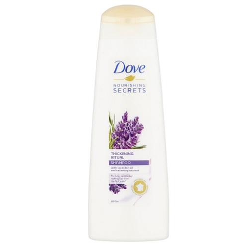 Dove Objemový šampon s levandulovým olejem a extraktem z rozmarýnu Nourishing Secrets (Shampoo) 250 ml