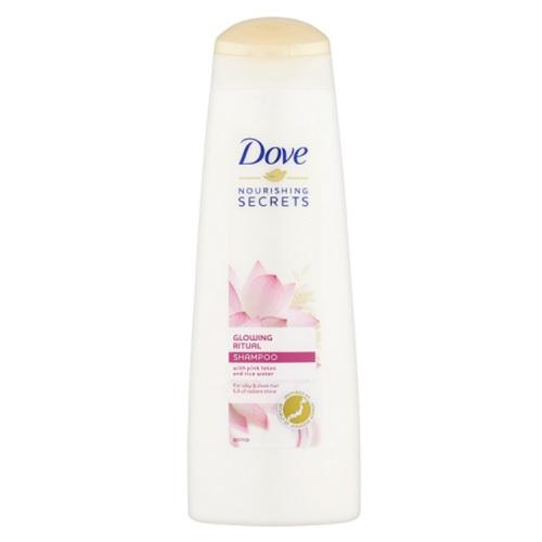Dove Șampon Radiant cu Extract de Lotus și Secreți Nourishing Secrets Apă Orez (Shampoo) 250 ml