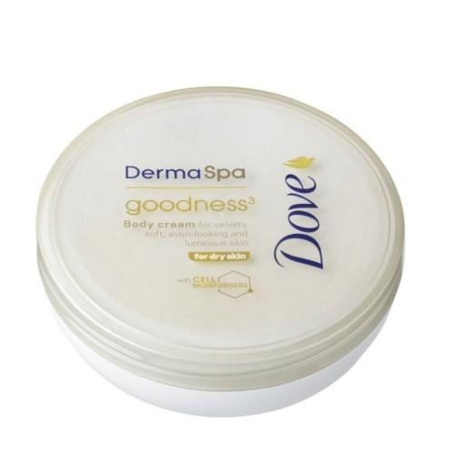 Dove Tělový krém pro sametově hebkou pokožku Derma Spa Goodness³ (Body Cream) 75 ml