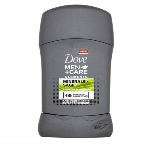 Dove Tuhý dezodorant pre mužov Elements Mineral s   Sage Men   Care 50 ml