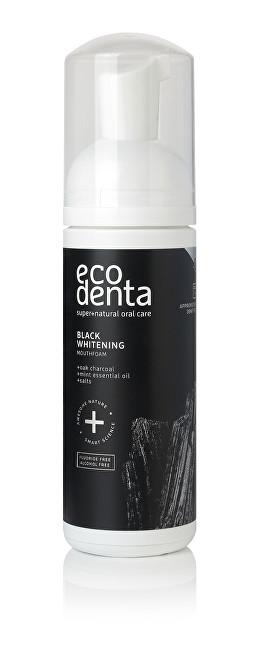 Ecodenta Black Charcoal Whitening Oral Care Foam Bělicí pěnová ústní voda s černým uhlím 150 ml