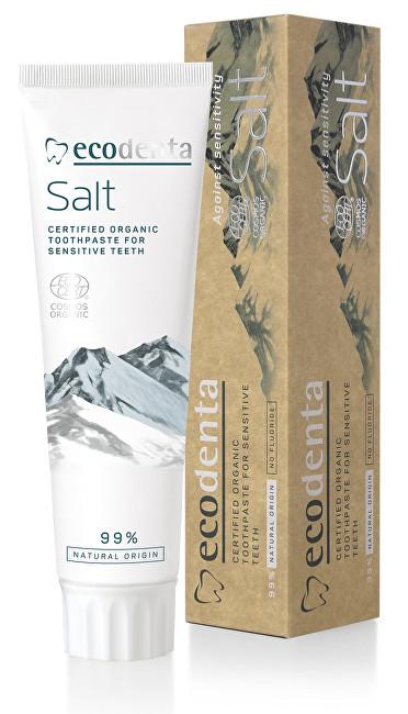 Ecodenta BIO slaná zubní pasta pro citlivé zuby a dásně (Certified Organic Toothpaste For Sensitive Teeth) 100 ml