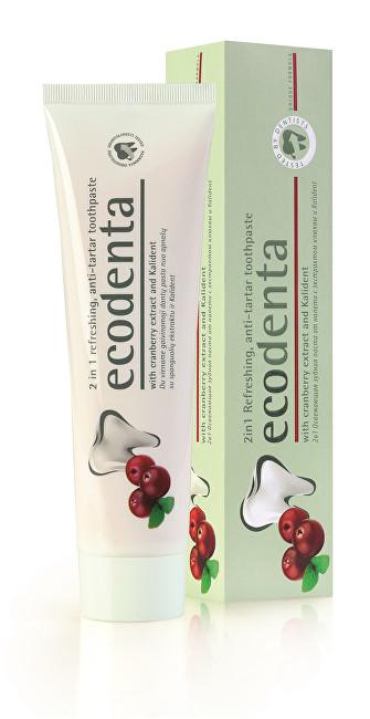 Ecodenta Osvěžující zubní pasta proti zubnímu kameni 2v1 s brusinkami a Kalidentem (2in1 Refreshing Anti-Tartar Toothpaste) 100 ml - SLEVA - poškozená krabička