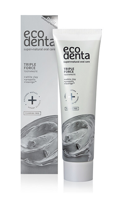 Ecodenta Zubní pasta s trojitým efektem s bílým jílem, propolisem a extraktem Teavigo (Triple Effect Toothpaste) 100 ml
